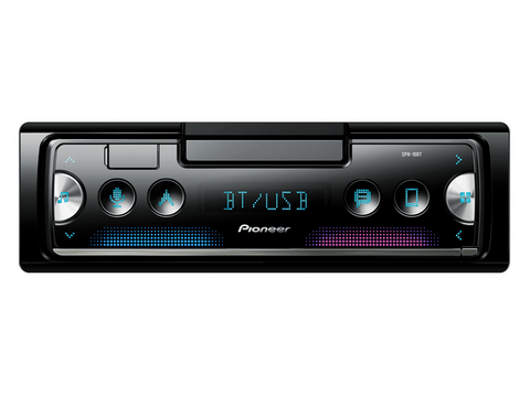 Autorradio - Pioneer SPH-10BT, Bluetooth, USB, Spotify, Para iPhone y Android, Negro