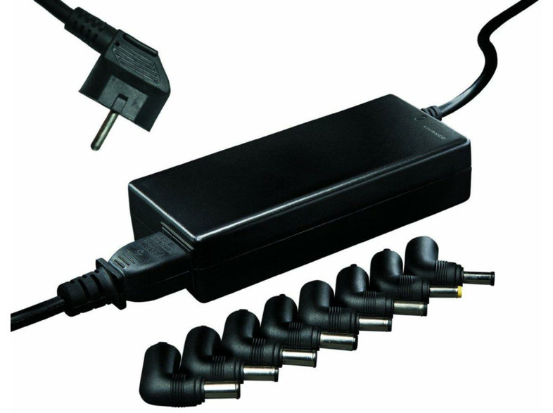 Adaptador universal - Vivanco, para Notebooks y Netbooks, 90W, negro