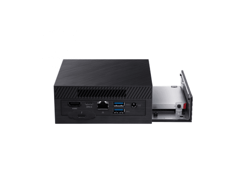 Mini PC - Asus PN62-BB5004MD, Intel® Core™ i5-10210U, Sin almacenamiento, FreeDOS, Negro