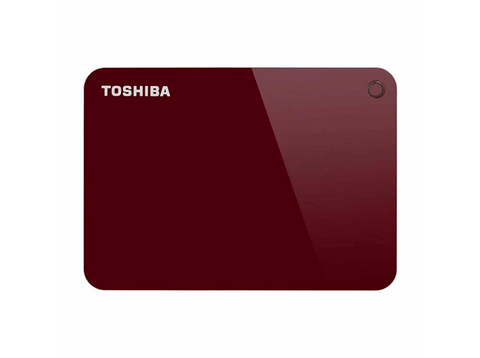 Disco duro 4 TB -  Toshiba Canvio Advance, 4TB, USB, Rojo