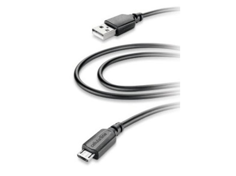 Cable de datos - Cellular line, micro USB, negro