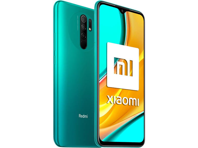 Móvil - Xiaomi Redmi 9, Verde, 64 GB, 4 GB, 6.53 Full HD+, MediaTek Helio G80, Quad Cam, 5020 mAh, Android