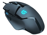Mouse gaming - Logitech Hyperion Fury G402, 250 a 4000 dpi, 8 botones programables, color negro
