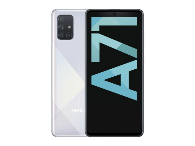 Móvil - Samsung Galaxy A71, Plata, 128 GB, 6 GB RAM, 6.7 Full HD+, SDM730, 4500 mAh, Android