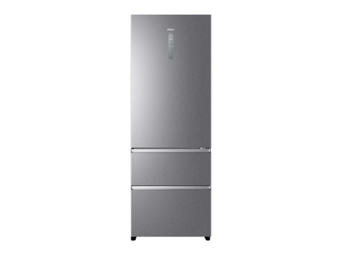 Frigorífico combi - Haier A3FE744CPJ, 460l, Total No Frost, Motor inverter, MyZone, LED,38 dB, A++, Titanium
