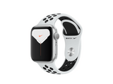 Apple Watch Nike Series 5, Chip W3, 40 mm, GPS, Caja aluminio plata, Correa Nike platino y negro