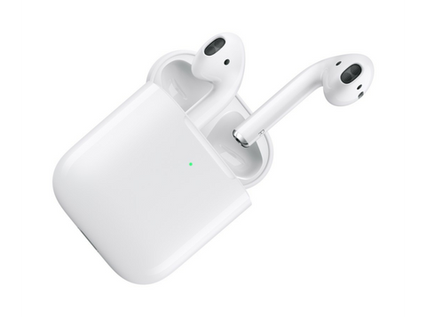 Auriculares inalámbricos - Apple AirPods 2, Bluetooth, Chip H1, Siri + Estuche de carga inalámbrico