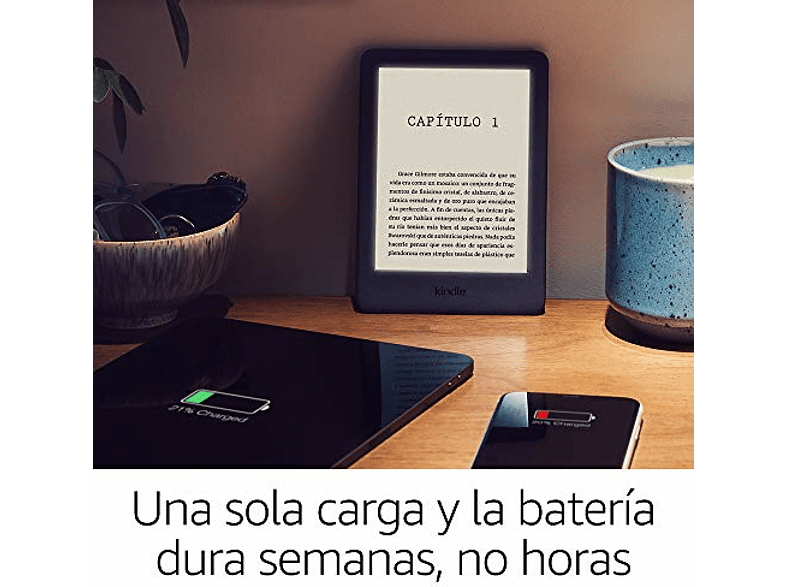 eReader - Amazon Kindle Black, Para eBook, 6 167 ppp LED, WiFi, Luz integrada regulable, 8 GB, Negro