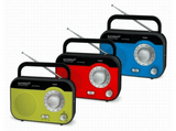 Radio portátil - Sunstech RPS560 RD Azul, Sintonizador AM/FM, Pila y red