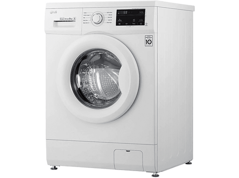 Lavadora carga frontal - LG F4J3TN3W, 8 kg, 1400 rpm, Inverter Direct Drive, 14 programas, A+++(-30%), Blanco