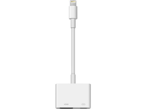 Adaptador Lightning a AV digital - Apple MD826ZM/A, dispositivos Apple, color blanco