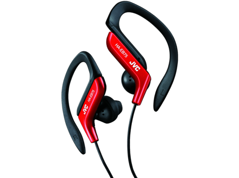 Auriculares deportivos - JVC HA-EB 75-R-E, 13.5mm neodimio, Cable 1.2 m, Rojo