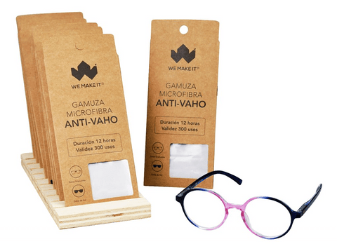Gamuza - We Make It Anti-Vaho, Para gafas, 300 usos, Blanco