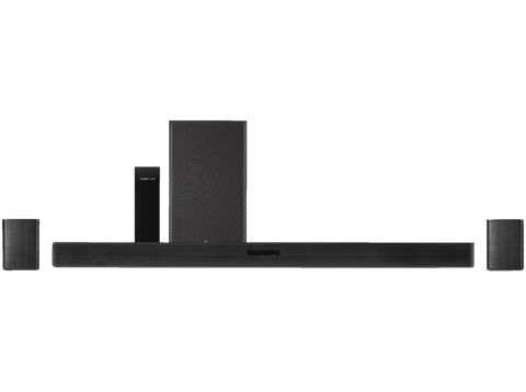 Barra de sonido - LG SK5R, Sistema 4.1, Hi-Res, 480 W, DTS Virtual X, HDMI + Altavoces Surround