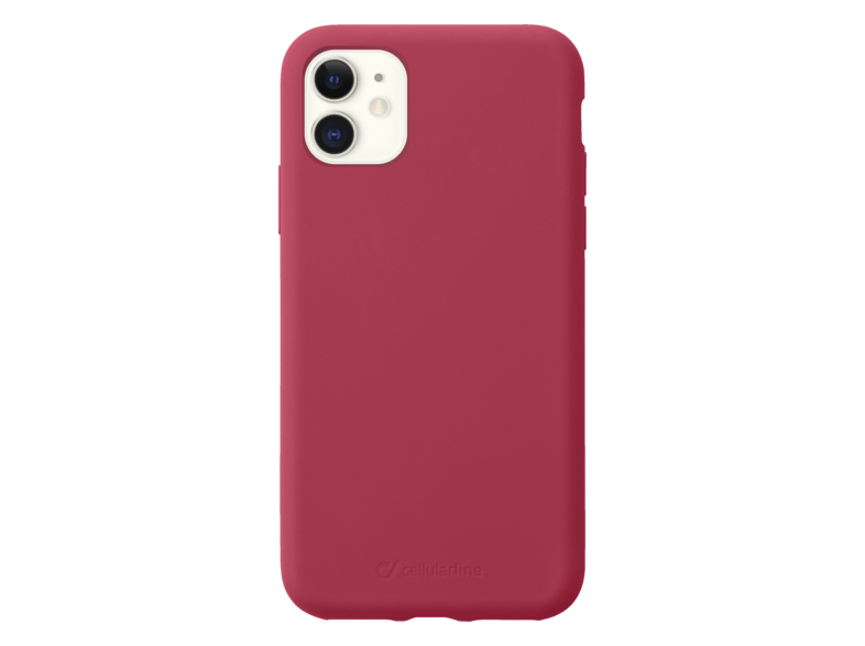 Funda - Cellular Line SENSATIONIPHXR2R, Para Apple iPhone 11, Silicona, Rojo