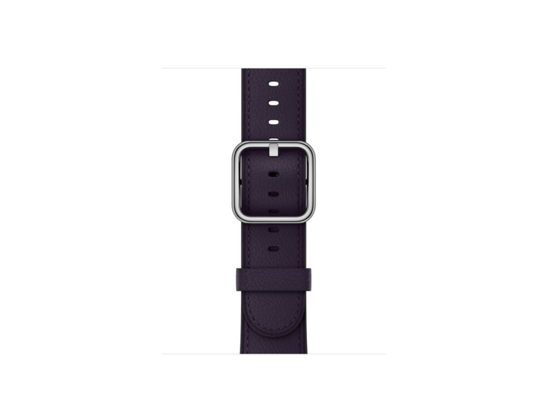Correa para Apple Watch - Apple MQV12ZM/A, Berenjena, Cuero, 38mm