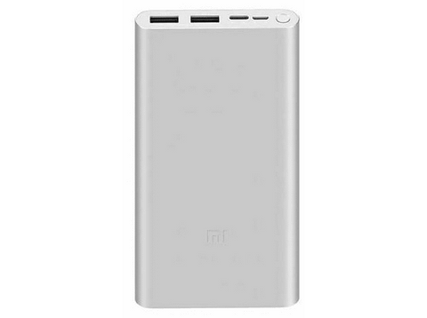 Powerbank - Xiaomi Mi Power Bank 3, Para smartphone o tablet, 10000 mAh, USB-A, USB-C, MicroUSB, Plata