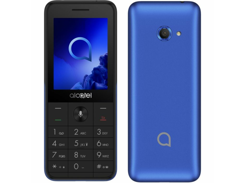 Móvil - Alcatel 3088G Smart 4G Bar, 2.4, SC9820E, 3.2 MP, 4 GB RAM, 512 MB, 1500 mAh, Azul