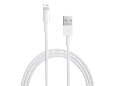 Cable lightning a USB - Apple, blanco 1 metro