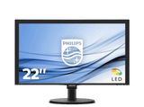 Monitor - Philips 223V5LHSB2/00, 22 Full HD, 5ms, VESA, VGA, Conexión HDMI, Negro