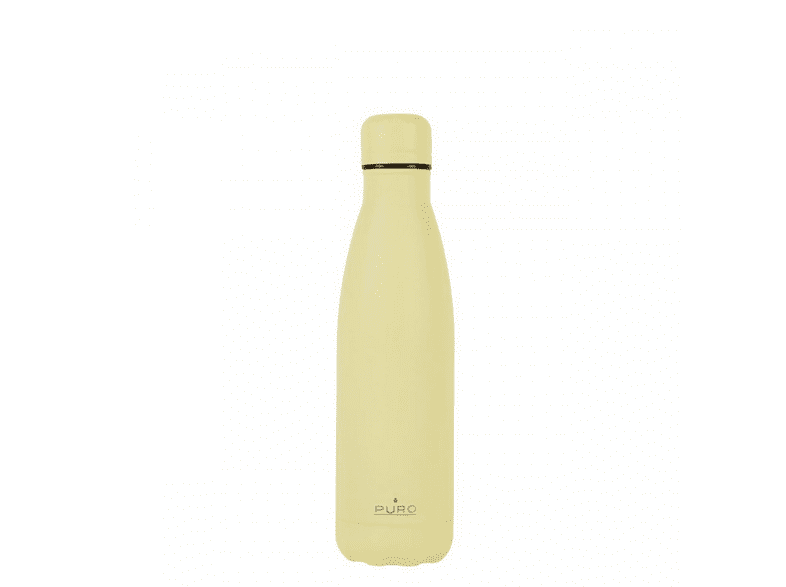 Botella - Puro Icon, 500ml, Térmico, Acero inoxidable, Amarillo