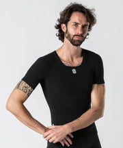Stay Fresh - Maglia termica Manica Corta Collo a V Anthracite