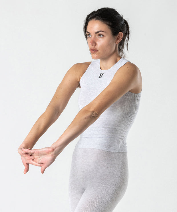 Sleeveless Tee Base Layer - PearlGrey