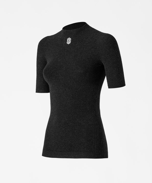 Stay Fresh - Anthracite Short Sleeve Round Neck Thermal Shirt