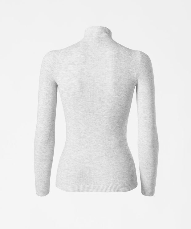 Long Sleeve High Neck Base Layer - PearlGrey