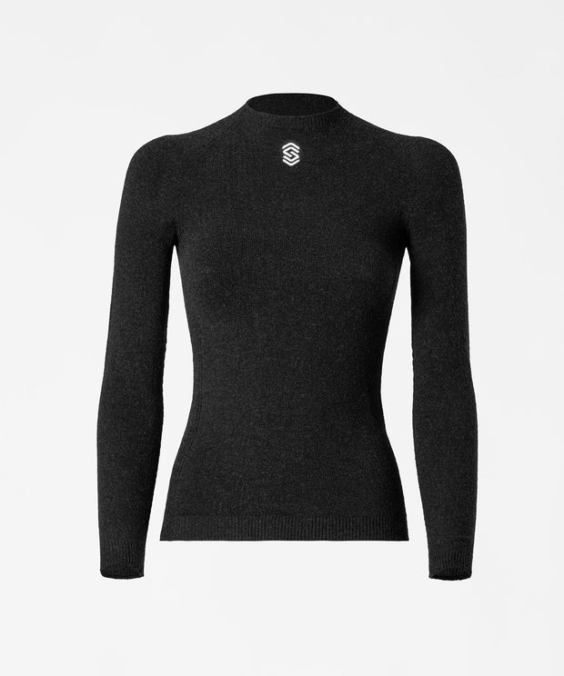 Long Sleeve Round Neck Base Layer - Anthracite