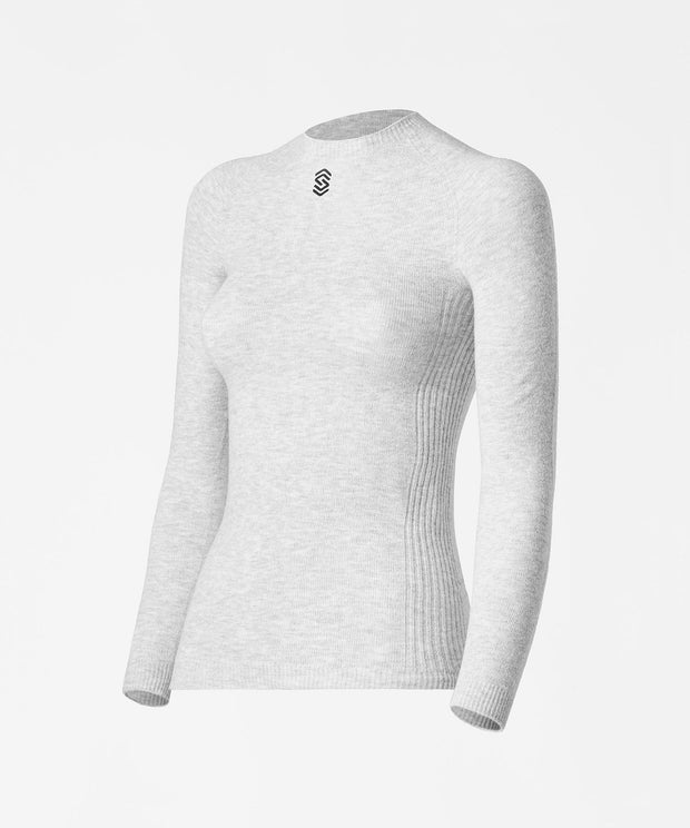 Long Sleeve Round Neck Base Layer - PearlGrey