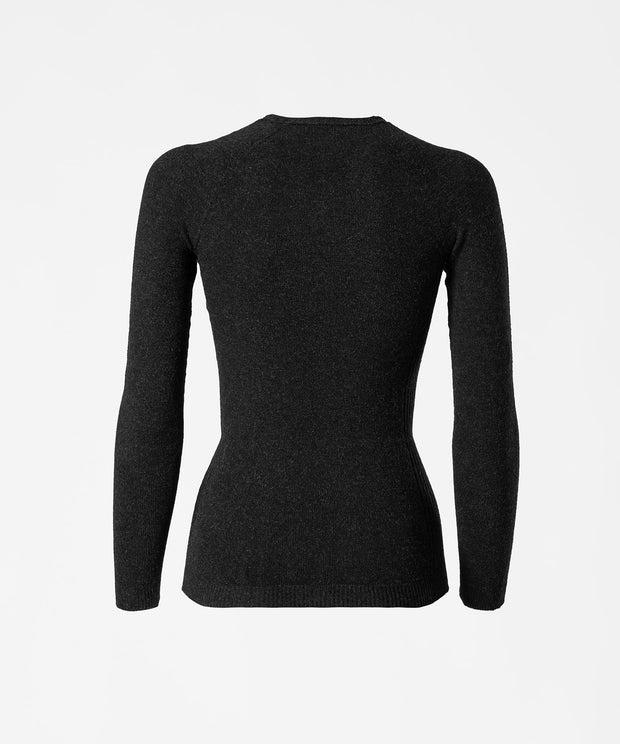 Long Sleeve V-Neck Base Layer - Anthracite