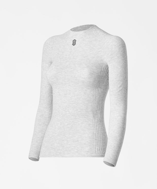 Long Sleeve Round-Neck Base Layer - PearlGrey