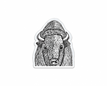 BLACK & WHITE BISON STICKER
