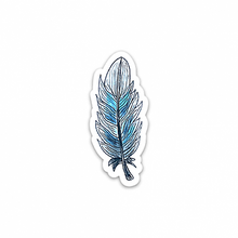 BLUE FEATHER STICKER