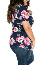 Load image into Gallery viewer, Navy Floral Jersey T-shirt