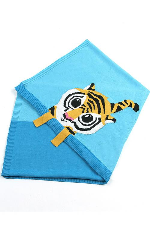 Blue Tiger Baby Blanket