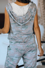 Load image into Gallery viewer, Sleeveless Camo Loungewear Set