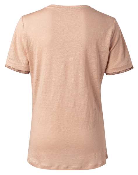 Yaya V-Neck Tee With Printed Cuffs