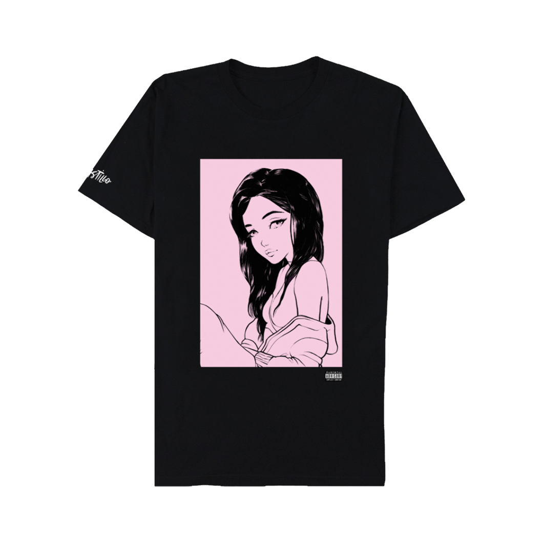 Alaina Portrait Black Tee