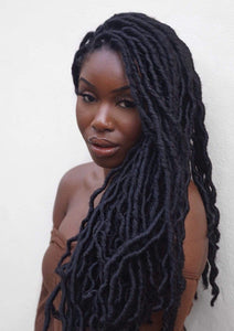 'Classic' Crochet Faux Locs - Natural Black