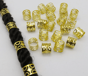 Adjustable Gold Crown-style Cuffs Hair Accessory - 20pcs