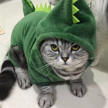 Load image into Gallery viewer, Pet Pally Soft Plush Snuggly T-Rex Dinosaur Hoodie Jacket with Spike design Clothing for Cats and Dogs