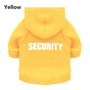 "Pet Pally Classic ""SECURITY"" Printed Statement Sweater Hoodie"