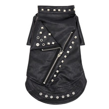 Load image into Gallery viewer, Pet Pally Classic Fashionably Chic Punk Studded Black Moto Leather Jacket for Cats and Dogs