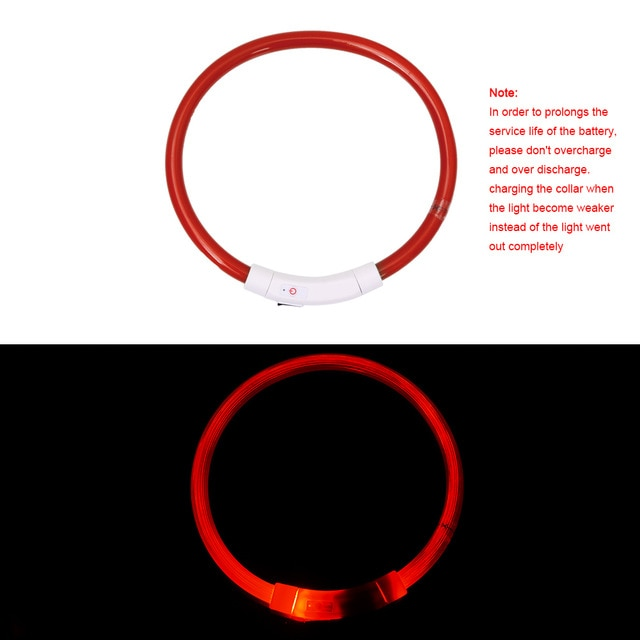 Pet Pally LED Luminous Flashing Night Proof Pet Collar with Rechargeable Battery