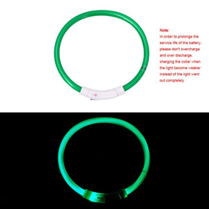 s $5.95  m $6.59  l $7 USB Charging Luminous Dog Collar at Night Safe Glowing Collar For Dogs Puppies Anti-Lost Dog Collars Accessories Pet Products