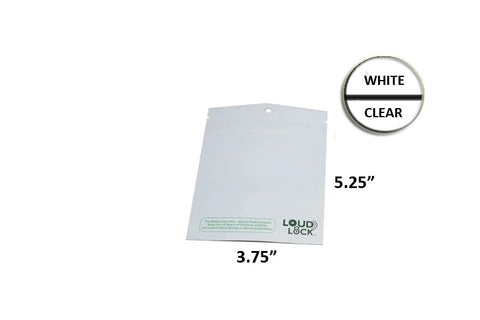 Loud Lock Mylar Bag White/Clear 1/8 Oz - 3.5 Grams (100, 500 or 1,000 Count)