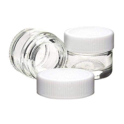 5 mL Glass Concentrate Container With White Cap - Non-CR Child Resistant (364 Count)