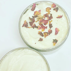 Rose and lavender whipped butter